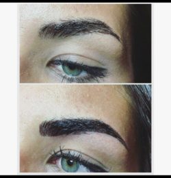 Voor en na foto permanente make-up